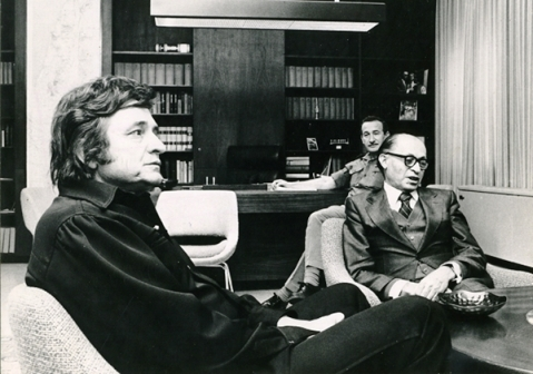 Menachem Begin and Johnny Cash